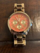 "Fossil AM4548 Women's Gold Tone Analog Watch Size 7"" Used"