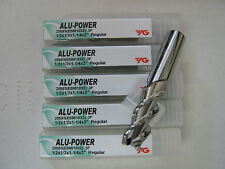 "5 pc 1/2""x1 1/4"" LOCx 3""OAL YG-1 ALU-POWER 3 Flute Carbide End Mill - ALUM ""NEW"""