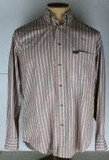 Men's Faconnable Multi-Colored Striped Shirt EUC Size Small Made in USA