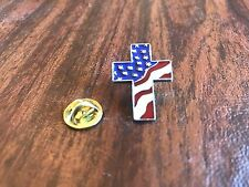 New listing Freedom Usa. American Jewelry 12 Cross Pewter Pins With Flag All New.