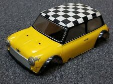 "Used Tamiya 1/8 Scale R/C TG-10 Mini Cooper body ""damage"" for Parts or Restore"