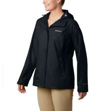 Womens Columbia Arcadia II Omni-Tech Waterproof Rain Jacket, Black, Medium, NWT