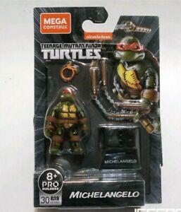 Mega Bloks Construx TMNT Classic Series 2 Pcs Leonardo Michelangelo lot *Sealed*