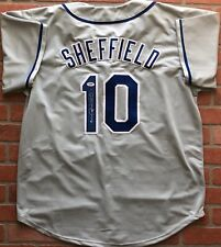 Gary Sheffield autographed signed jersey MLB Los Angeles Dodgers PSA COA