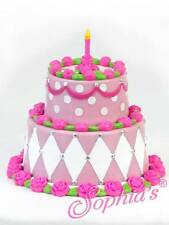 """Tiered Birthday Cake Pretend Play for 18"""" American Girl Dolls"""