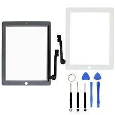 Para Blanco Apple Ipad 3 4 pantalla táctil digitalizador de vidrio de repuesto