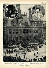 Mittfasten in Parigi Poincaré e famiglia come spettatori l'auto della regina 1913