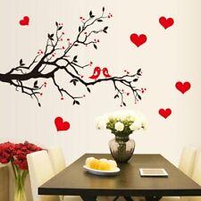 Wandtattoo Wandaufkleber Vögel Baum Äste Herzen - Esszimmer Wohnzimmer