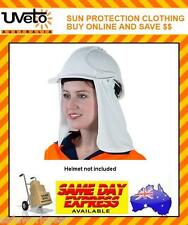 WHITE Attach-A-Flap Head Sun Safety Protection Helmet Add-on
