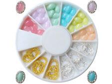 36 ovale Crystal Straßsteine mit Ring In 6 Farben Ap-69