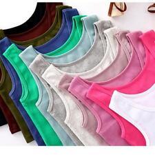 Fashion Summer Women Sleeveless T-Shirt Tank Tops Cami Vest Crop Top Blouse B
