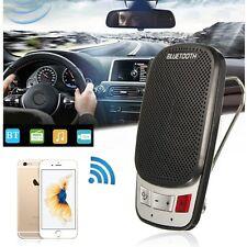 Handsfree Bluetooth Wireless Car Kit Speaker Phone Sun Visor Clip Portable Slim_