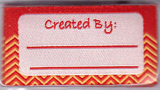 "BLUMENTHAL LANSING IRON ON LOVE LABELS - ""CREATED BY ___________"" - SET OF 4 PC"