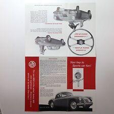 ✇ Original MGA MG A Prospekt Brochure um 1955