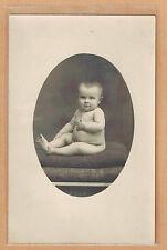 Carte Photo RPPC Creuse De Nussac Guéret bébé assis pz0370