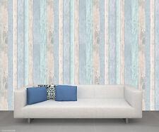 Crown Wallpaper - Wood panels / Board - Beach Hut Blue - Luxury Glitter - M1062