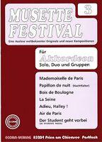 Akkordeon Noten : Musette Festival 3 mittelschwer (mit 2. Stimme ad. lib) ECORA
