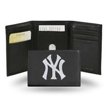 New York Yankees MLB Team Logo Embroidered Leather TRIFOLD Wallet