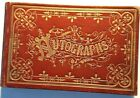 Antique Autograph Book dated 1880-1884 from Taunton and surrounding areas