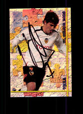 David Villa FC Valencia sammelcard ORIGINALE FIRMATO + a 157527