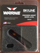 WARNE 7852 M niveau collier bulle Skyline Precision Mount Scope Level noir matte