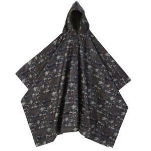 Waterproof Hooded Military Rain Poncho Ripstop Raincoat Camo Coat Tent Camouflag