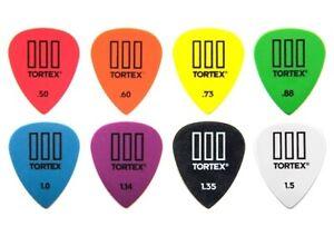8 x Jim Dunlop Tortex TIII Variety Gauge Guitar Picks 462R Plectrums