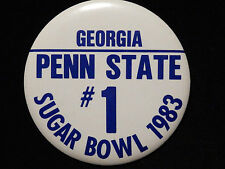 "1983 PENN STATE SUGAR BOWL BUTTON # 1 - 3 1/2"" ROUND"