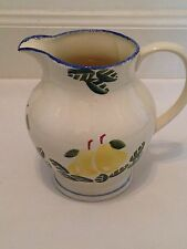"Poole Pottery Large Pitcher / Jug / Vase ""Dorset Fruits"" Pear"