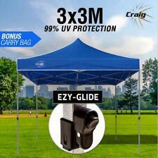 Blue 3x3m Outdoor Gazebo - Marquee Shade Folding Tent Pop Up Canopy Waterproof