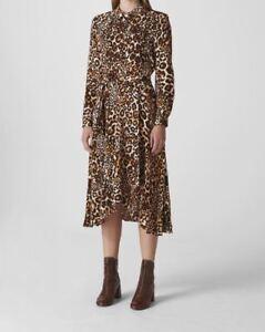 Whistles WOMAN Animal Print Esme Wrap Dress