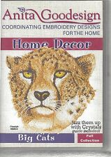 Full Collection Embroidery Designs Anita Goodesign CD Big Cats in Most Formats