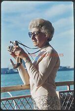 AMATEUR PHOTOGRAPHER W/ CAMERA 1960S DETROIT ORIG VTG 35MM PHOTO SLIDE FOUND