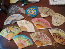 Lot of 12! Vintage Advertising & Novelty Fans: rice paper & others!