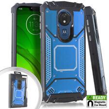 For Motorola Moto E5 PLUS E5 SUPRA - Metal Back Plate Hybrid Magnetic Case Cover