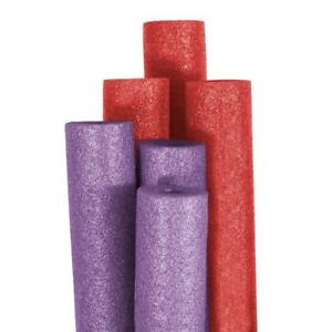 Swimming Pool Noodles Water Toy Kids Play Foam Outdoor Purple Red Round 6 Pack