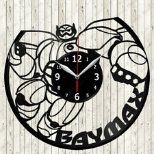 Baymax Vinyl Record Wall Clock Decor Handmade 2697