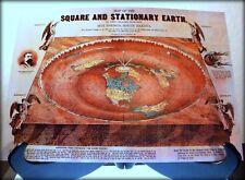 FLAT EARTH Map - O Ferguson - Square & Stationary Earth 1893 - (350gsm) A3 size