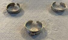 Lot of 3 rings sterling silver toe midi rings