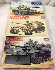 Lot of 3 1/35 Scale M60 Tanks - M60A3, M9 Dozer Blade & KMT-4 Mine Roller