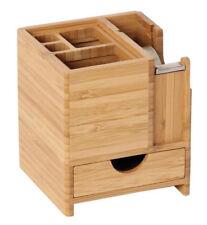 STIFTEBOX mit Klebefilm-Abroller Bambus Stiftehalter Stiftebox Schreibtisch NEU