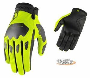 ICON - Hooligan Gloves - H-VIZ - 2X-LARGE - Lightweight Summer Street Glove -