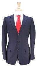 DIOR Homme Navy Blue Thin Striped 3-Btn Slim Fit Wool Suit Eu 46R - US 36R