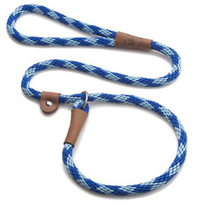Mendota - Dog Puppy Leash - British Style Slip Lead - Sapphire Blue - 4, 6 Foot