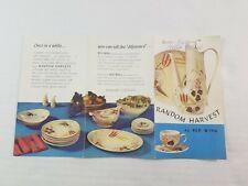Red Wing Pottery Minnesota Random Harvest Advertising Brochure Catalog 1957 USA