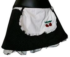 Morbid Threads Polka Dot Cherry Apron Mini Skirt Vintage Hot Topic Pin Up XS