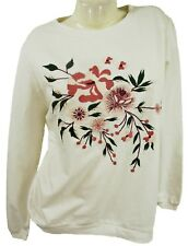 EMBROIDERED LONG SLEEVE IVORY TOP, ANITA & GREEN, SIZE XS / UK 8-10, LT383
