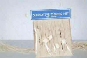 Fischernetz Dekonetz mit Muscheln ca. 250x120cm #53313