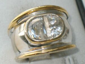 JUGENDSTIL SILBER 585er GOLD RING BERGKRISTALL ausgefallen SUPER DESIGN MEISTER