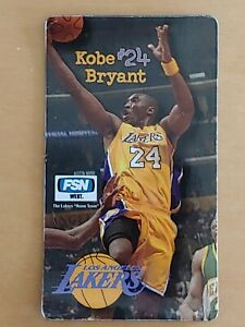 KOBE BRYANT LAKERS 2006-07 FSN STAPLES GAME DAY GIVEAWAY MAGNET CARD VERY RARE!!